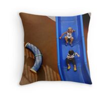 Slide - Kids playing on it Throw Pillow