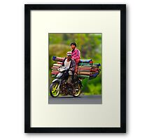 Crazy loads. Framed Print