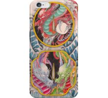 Dragon's are living in the Japanese sword. iPhone Case/Skin