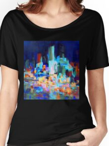 Sydney Harbor Skyline at night 1.0 Women's Relaxed Fit T-Shirt