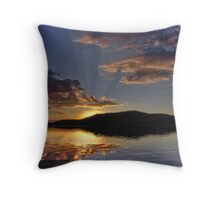 Magical Morning Fallen Leaf Lake Throw Pillow