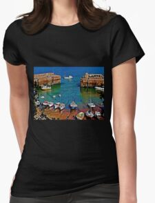 Newquay Harbour Womens Fitted T-Shirt