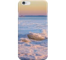 Pink Reflection on the Frozen River iPhone Case/Skin
