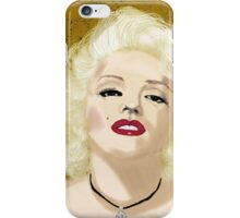 Marilyn- Digital Portrait of Marilyn Monroe iPhone Case/Skin