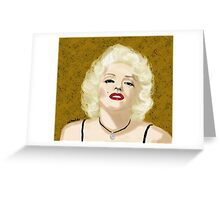 Marilyn- Digital Portrait of Marilyn Monroe Greeting Card