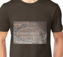 Madaba Map - Jerusalem Unisex T-Shirt