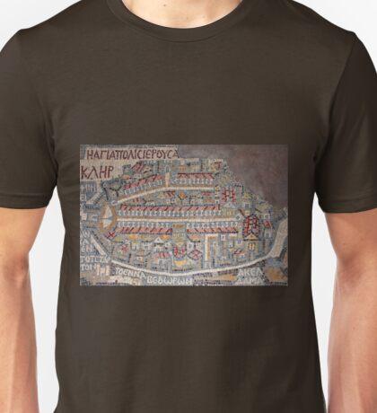 Madaba Map - Jerusalem Unisex T-Shirt