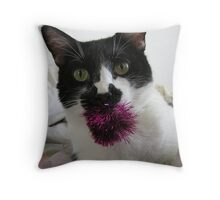 Soooo?  You think only dogs can Fetch? Throw Pillow