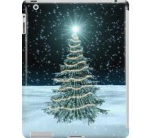 Christmas Tree on Snowy Landscape iPad Case/Skin