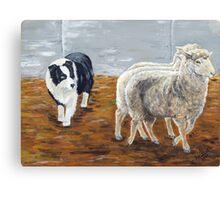 Zagala Con Ojo Zaca - The Shepherdess Canvas Print