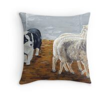 Zagala Con Ojo Zaca - The Shepherdess Throw Pillow