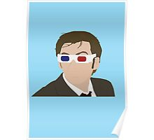 David Tennant 3D Glasses rotoscope Poster