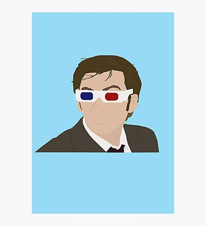 David Tennant 3D Glasses rotoscope Photographic Print