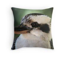 Laughing Kookaburra Not Laughing Australian Native Bird Throw Pillow