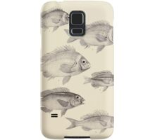 The fishes of India by Francis Day 022 - Scolopsis Vosmeri young, S Vosmeri semi-adult, S Vosmeri adult, S Leucotaenia, S Ciliatus, Synagris Tolu Samsung Galaxy Case/Skin