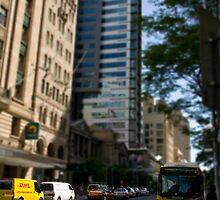 Brisbane city main street by Paul Thorley