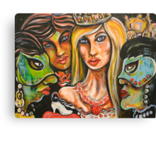 Cinderella with The Green Mask of Envy, and The Blue Mask of Jealously Canvas Print
