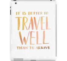 Travel Well iPad Case/Skin