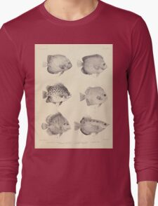 The fishes of India by Francis Day 027 - Holacanthus Annularis, H Xanthurus, Scatophagus Argus, Ephippus Orbis, Drepane Punctata, Toxotes Chatareus Long Sleeve T-Shirt