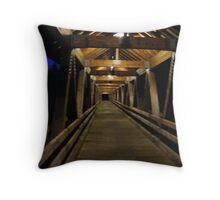 River Walk bridge at night Throw Pillow