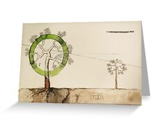 tree of life in binary Greeting Card