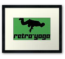 Retro-Yoga Framed Print