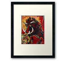 Razorback Fury Framed Print