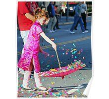 Confetti and an umbrella Poster