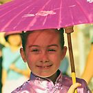 Girl under an umbrella by Walt Conklin