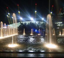 Water sculptures at the O2 in Greenwich UK by Terry Senior