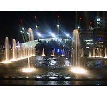 Water sculptures at the O2 in Greenwich UK Photographic Print