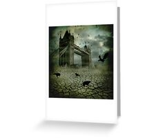 The Ravens Have Left the Towers Greeting Card