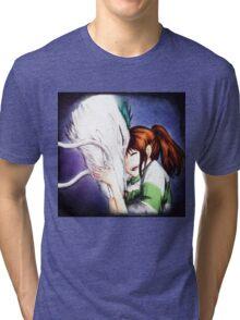 Spirited Away - Chihiro & Haku Tri-blend T-Shirt