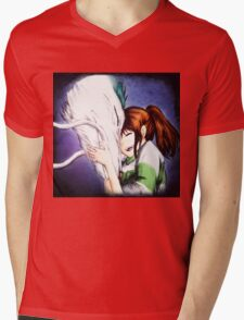 Spirited Away - Chihiro & Haku Mens V-Neck T-Shirt