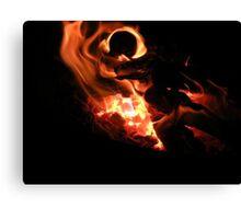 Macro Flame Canvas Print