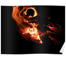 Macro Flame Poster