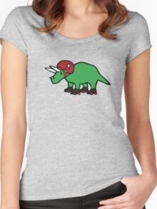 Roller Derby Triceratops Women's Fitted Scoop T-Shirt