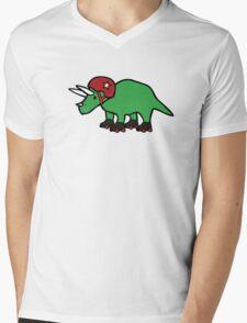 Roller Derby Triceratops Mens V-Neck T-Shirt