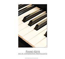 Piano Keys Photographic Print