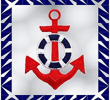 Anchor with Border Design by xorbah