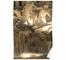 Trevi Fountain (Detail) Poster