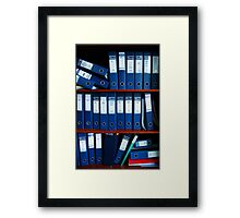 Files Framed Print