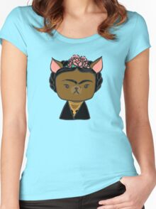 Frida Chihuahua Women's Fitted Scoop T-Shirt
