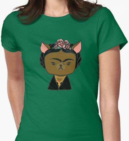 Frida Chihuahua Womens Fitted T-Shirt