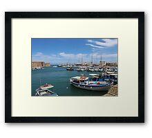 Heraklion Harbour Framed Print
