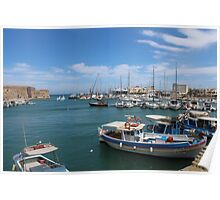 Heraklion Harbour Poster
