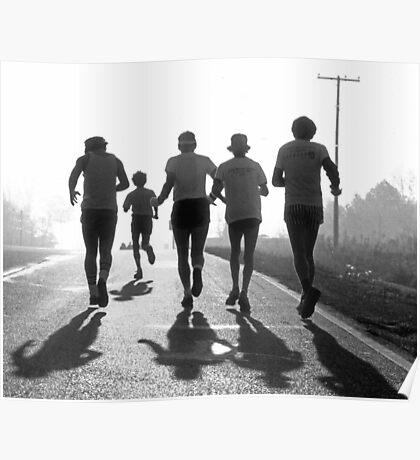 Morning run BW Poster
