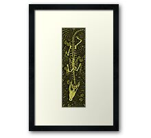Ethereal Reptile Framed Print