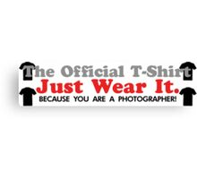 The Official T-Shirt - Jut Wear It Canvas Print