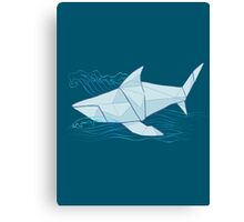 Origami Chomp Chomp On Blue Canvas Print